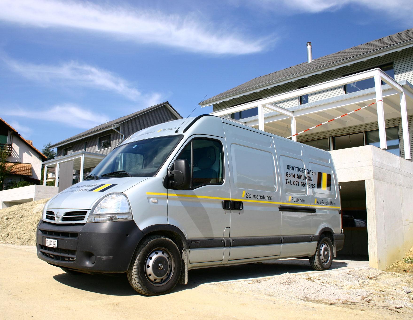 Bild zeigt Servicefahrzeug der Krattiger GmbH